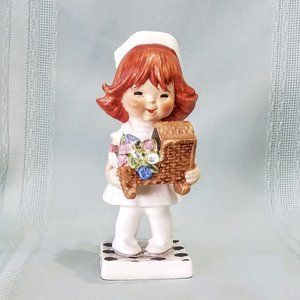 Vintage Goebel Nurse Figurine Red Hair West German
